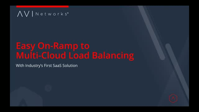 Easy On-ramp to Multi-Cloud Load Balancing with Industry's First SaaS Solution