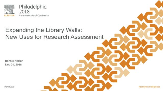 #PRCN2018: Expanding the Library Walls: New Uses for Research Assessment