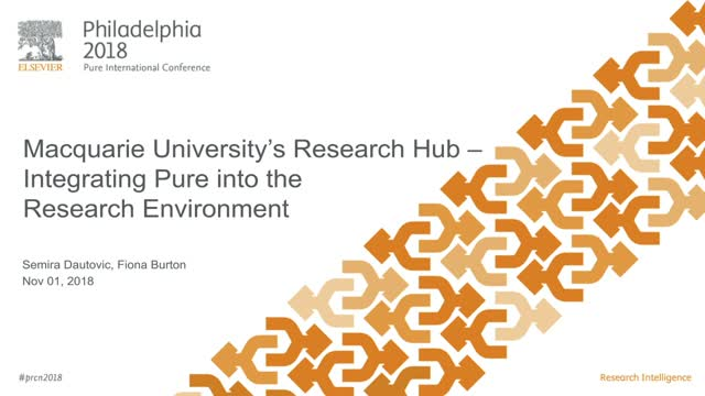 Macquarie University's Research Hub – Integrating Pure into the Research Environ
