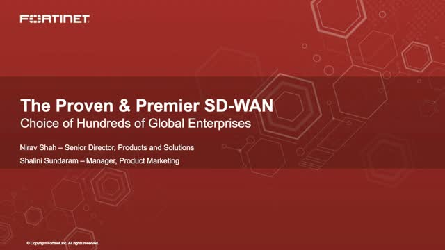 The Proven & Premier SD-WAN Choice of Hundreds of Global Enterprises