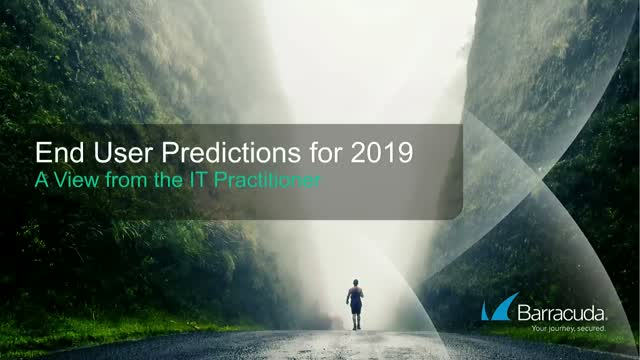 A View from the IT Practitioner: End User Predictions for 2019