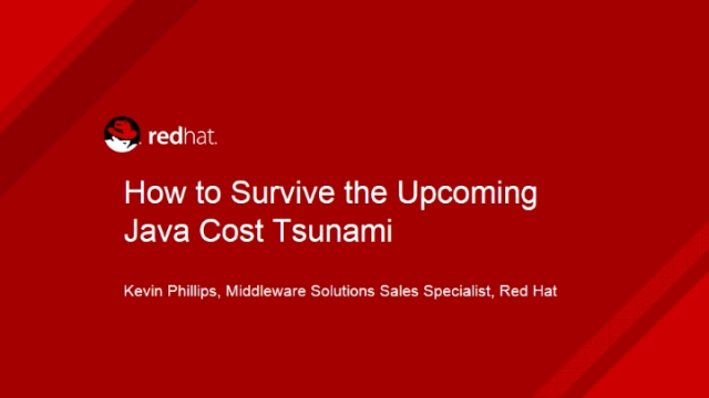 How to Survive the Upcoming Java Cost Tsunami