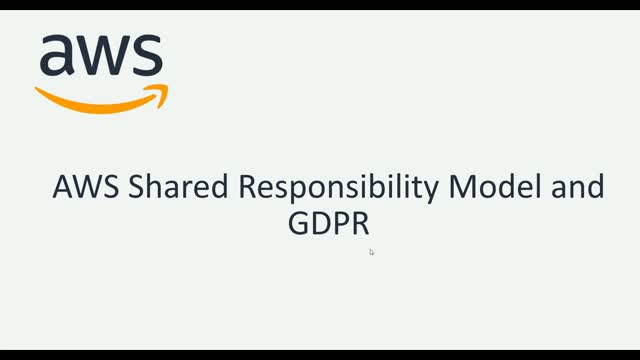 AWS Shared Responsibility Model & GDPR