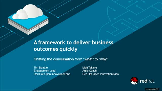 "Deliver business outcomes quickly: Shifting the conversation of ""what"" to ""why"""