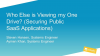 Who Else is Viewing my One Drive? (Securing Public SaaS Applications)