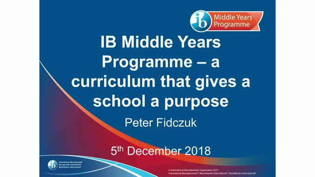 IB Middle Years Programme – a curriculum that gives a school a purpose