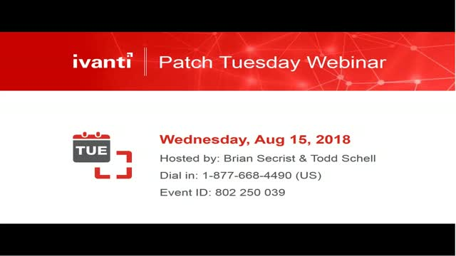 August 2018 Patch Tuesday Analysis