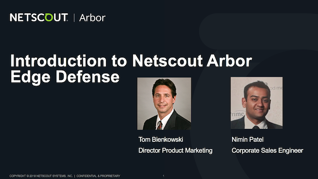 Introduction to NETSCOUT Arbor Edge Defense
