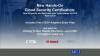 Part II: New Hands-On Cloud/Cyber Security Certification