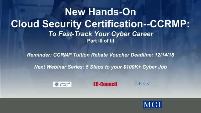 Part III: New Hands-On Cloud/Cyber Security Certification