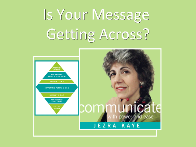 Is Your Message Getting Across?