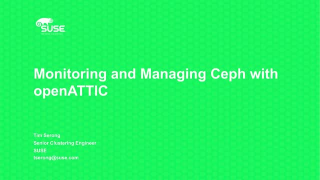 Monitoring and Managing Ceph with openATTIC