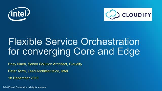 Flexible Service Orchestration for converging Core and Edge Networks