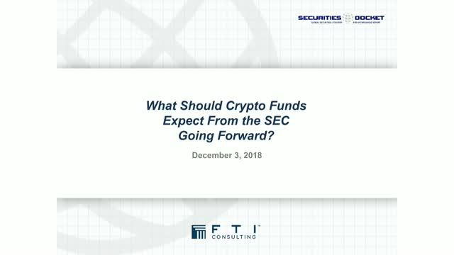 What Should Crypto Funds Expect From The SEC Going Forward?