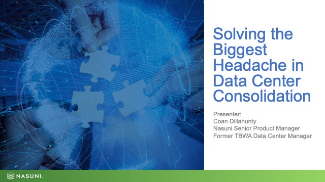 Solving the Biggest Headache in Data Center Consolidation