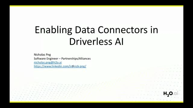 Enabling Data Connectors in H2O Driverless AI