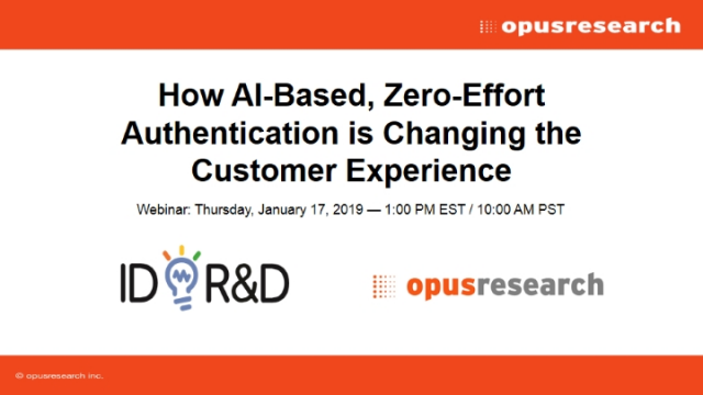 How AI-Based, Zero-Effort Authentication is Changing the Customer Experience