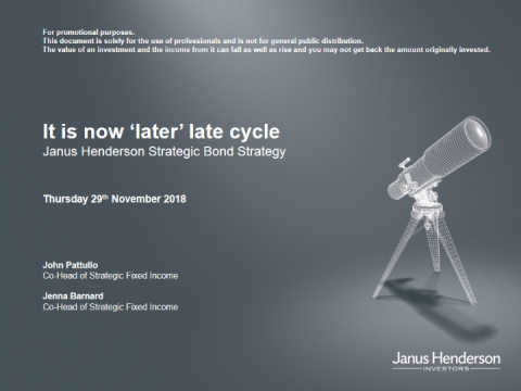 It is now 'later' late cycle