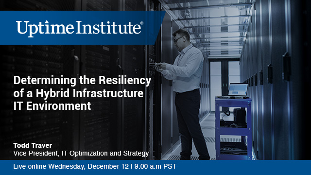 Determining the Resiliency of a Hybrid Infrastructure IT Environment