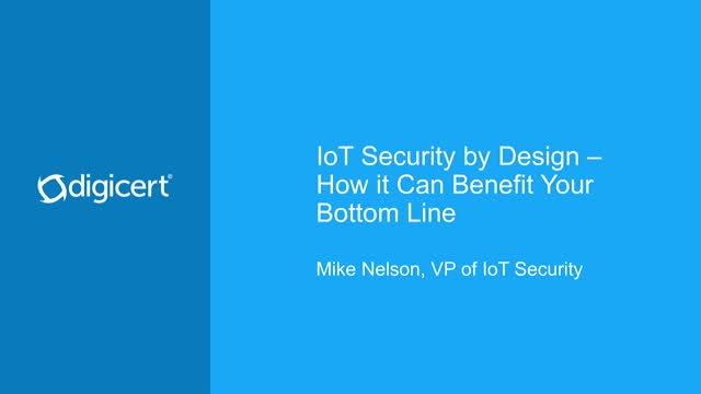 IoT Security by Design – How it Can Benefit Your Bottom Line