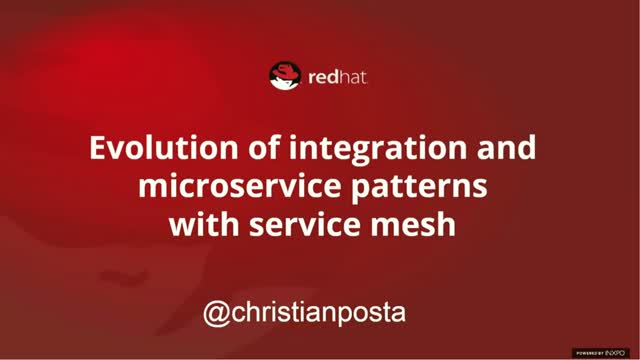 Evolution of integration and microservices patterns with Istio service mesh