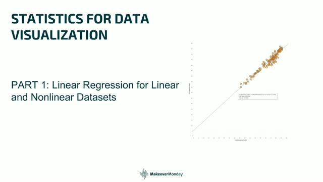 Stats for Dataviz: Linear Regression for Linear and Nonlinear Datasets