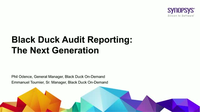 Black Duck Audit Reporting: The Next Generation