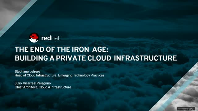 The end of the iron age: Building a private cloud infrastructure