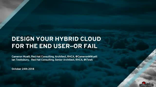 Design your hybrid cloud for the end user - or fail