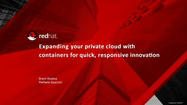 Expanding your private cloud with containers for quick, responsive innovation