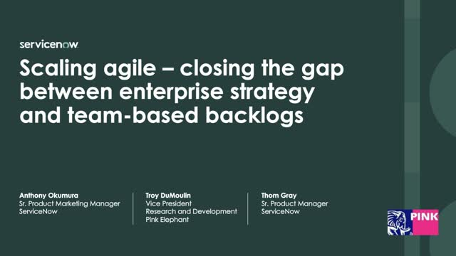 See how to scale agile across the enterprise