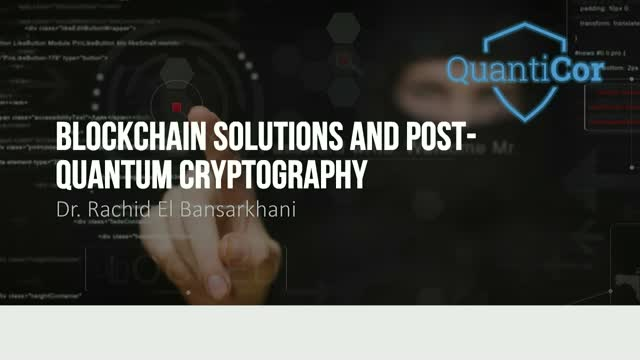 Blockchain Solutions and Post-Quantum Cryptography
