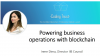 Powering business operations with blockchain