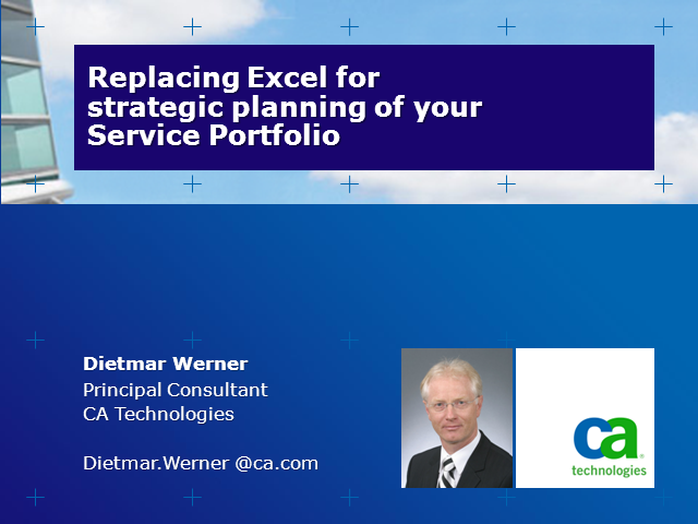 Replacing Excel for strategic planning of your Service Portfolio