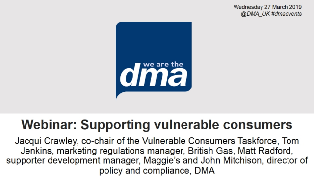 Webinar: Supporting vulnerable consumers