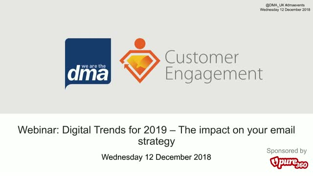 Webinar: Digital Trends for 2019 - The impact on your email strategy