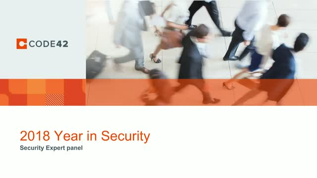2018: The Year in Data Security Panel Discussion