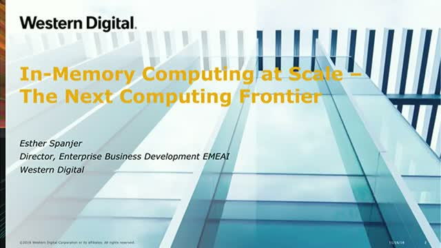 In-Memory Computing at Scale – The Next Computing Frontier