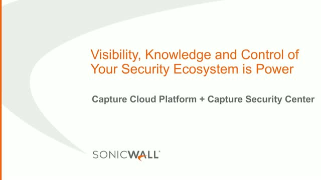 Visibility, Knowledge and Control of Your Security Ecosystem is Power