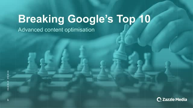 How to break into the first page of the SERPs