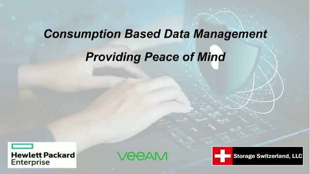 Consumption Based Data Management Providing Peace of Mind