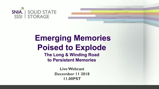 Emerging Memory Poised to Explode