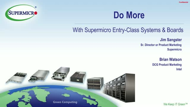 Do More With New Supermicro Entry-Class Servers & Intel® Xeon® E-2100 Processors