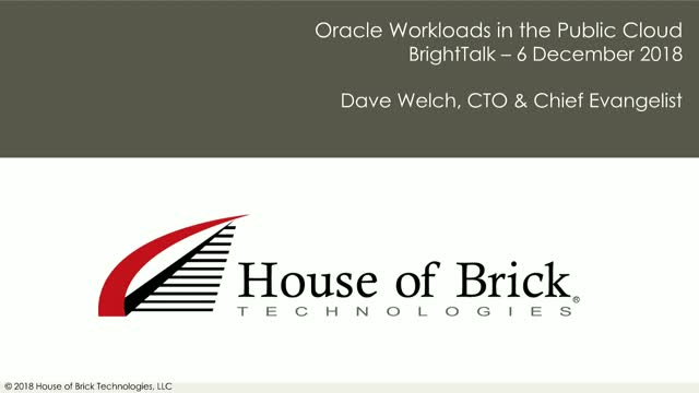 Oracle Workloads in the Public Cloud