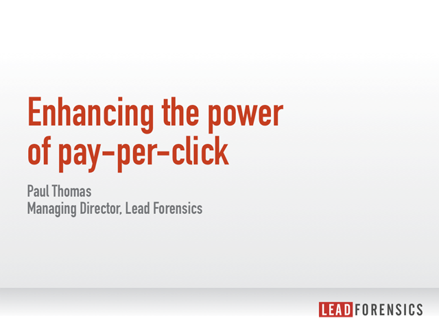 Enhancing the power of pay-per-click