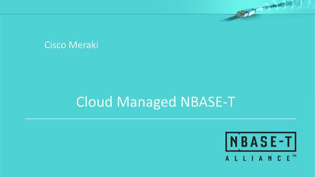 Cloud Managed NBASE-T