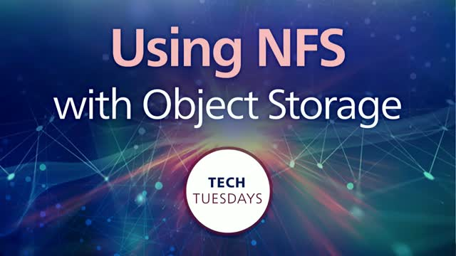 Using NFS with Object Storage