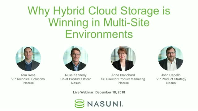 Why Hybrid Cloud Storage is Winning in Multi-Site Environments