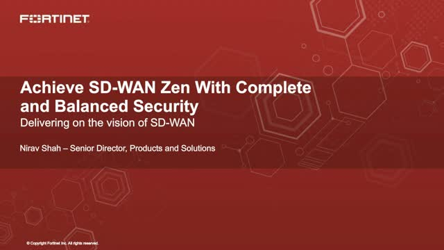 Achieve SD-WAN Zen With Complete and Balanced Security