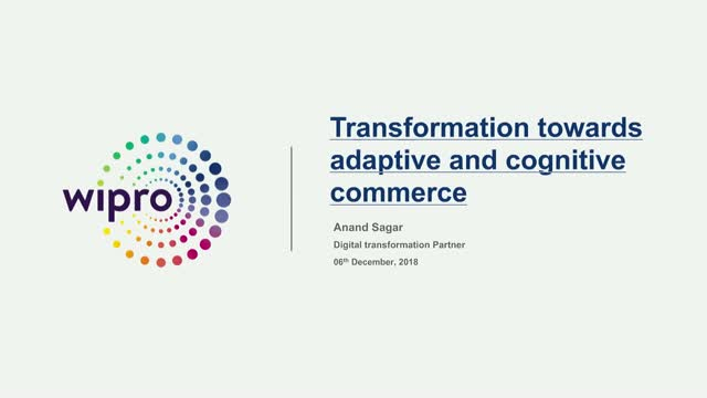 Transformation towards adaptive and cognitive commerce